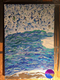 Arctic Vortex Original Abstract Painting On Canvas 24 X 36 - Original Art