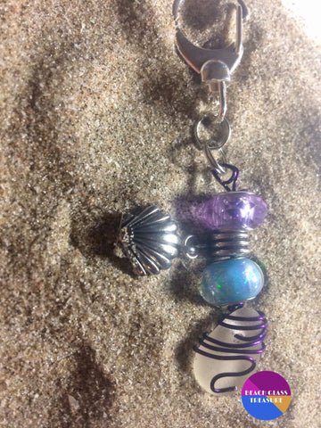 Beach Glass Clasp Keychain ***sold Out***