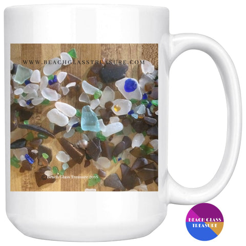 Beach Glass Treasures In A Pile Coffee/tea Mug - Beach Glass Pieces - Drinkware
