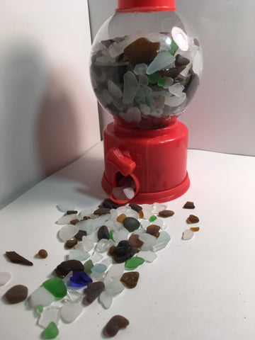 Beach glass gum ball machine