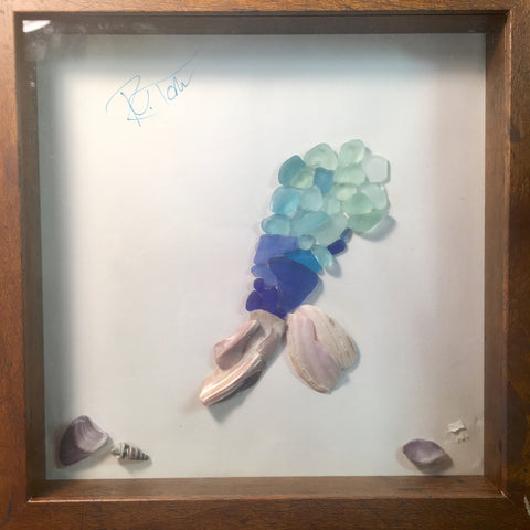 Mermaid tail shadow box