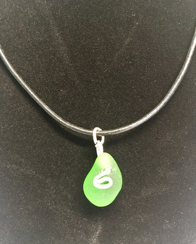 Green lagoon men's necklace