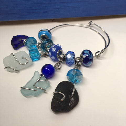 Dreamy mermaid love bangle bracelet *SOLD*