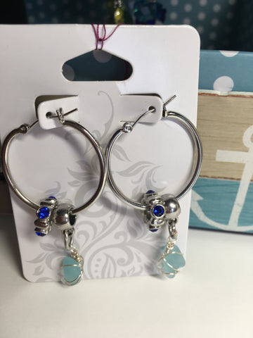 Nautical hoop earrings