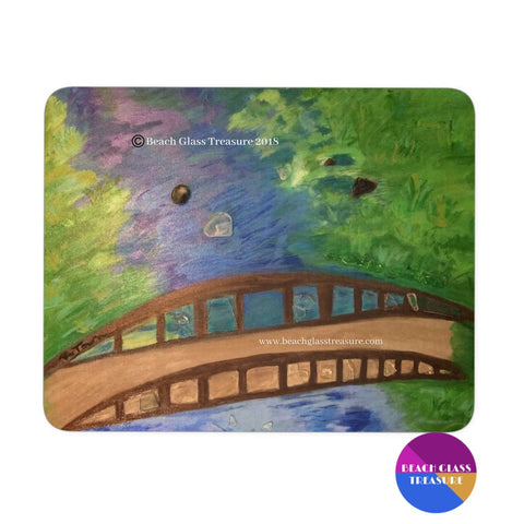 Love Unlocked Bridge Mousepad - Black - Mousepads