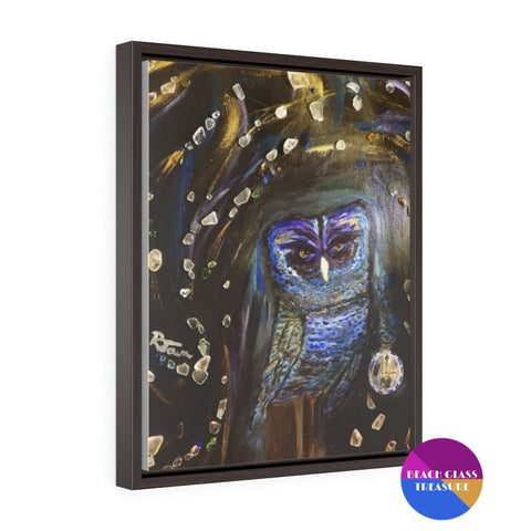 Shattered Time Piece Print Vertical Framed Premium Gallery Wrap Canvas 16X20 - 16 × 20 - Canvas