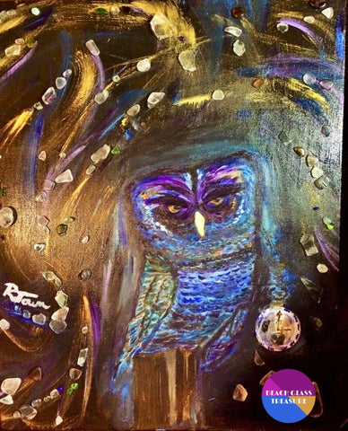 ****sold****shattered Time Piece Original Acrylic Painting On Canvas - Original Art