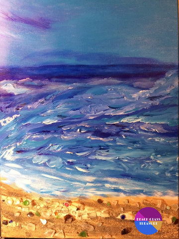 ****sold****unshore Original Oil Painting On Canvas - Original Art