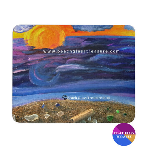 Sunset Into Storm Mousepad - Sunset Into Storm - Mousepads