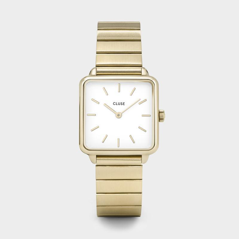 CLUSE La Tétragone Single Link Gold/White CL60023S - Watch