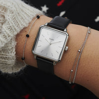 CLUSE 16 mm Strap Black/Silver CLS601 - watch