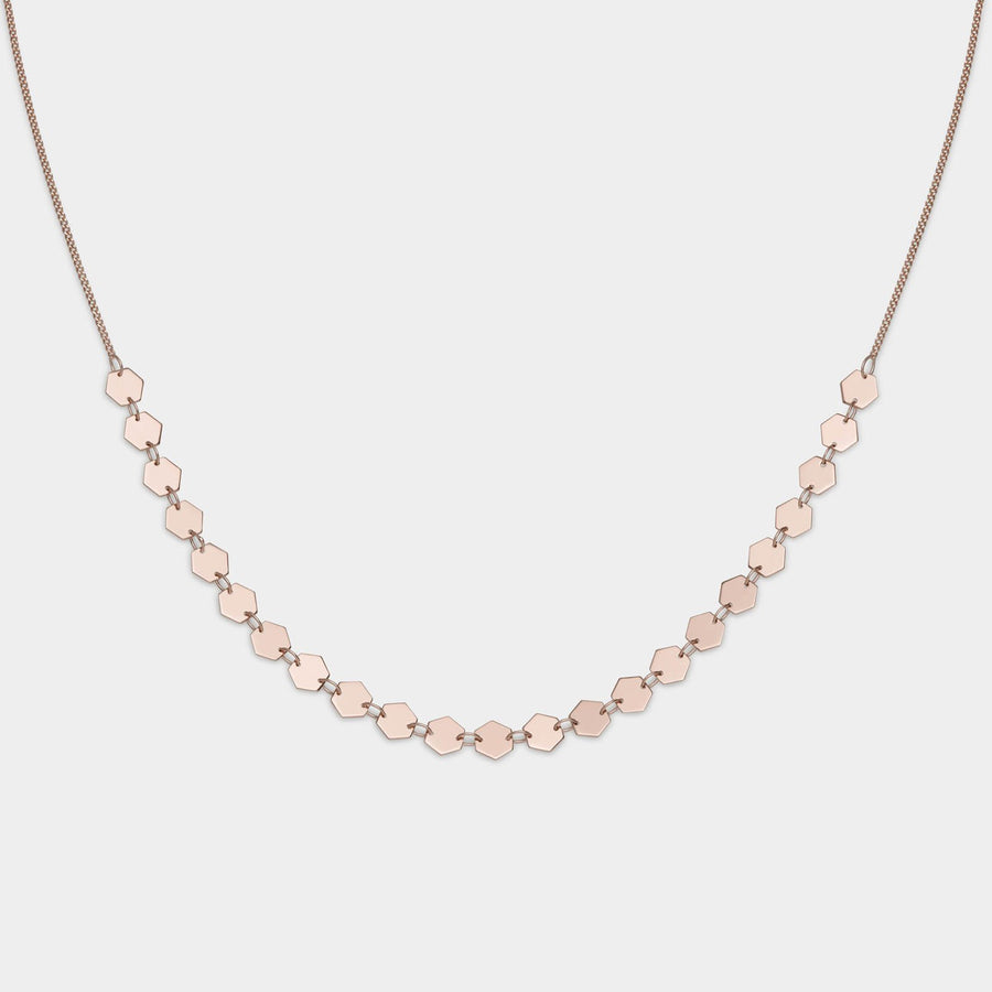 CLUSE Essentielle Rose Gold All Hexagons Choker Necklace CLJ20003 - necklace