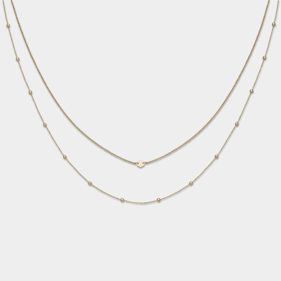 CLUSE Essentielle Gold Set of Two Necklaces with Petite Hexagon CLJ21004 - necklaces