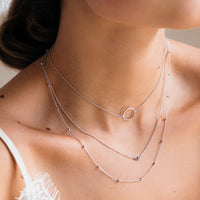 Essentielle Silver Open Circle Choker Necklace