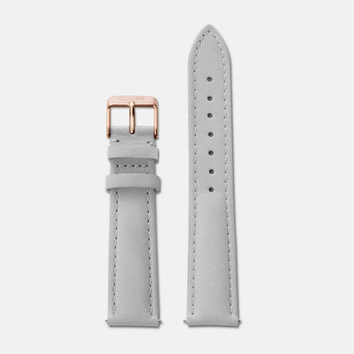 Image: CLUSE 18 mm Strap Grey/Rose Gold CLS019 - strap