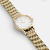 CLUSE La Vedette Mesh Gold/White CL50007 - watch face detail