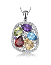 Gemstones Sterling Silver Pendant