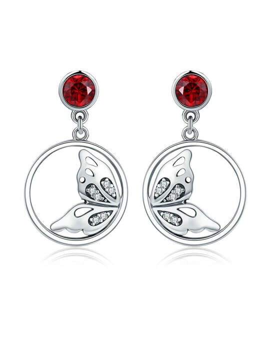Lusty butterfly drop earrings