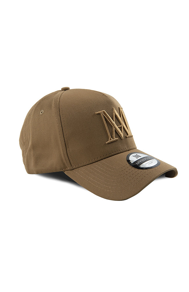 Manasse A Frame Hat - Beige on Beige