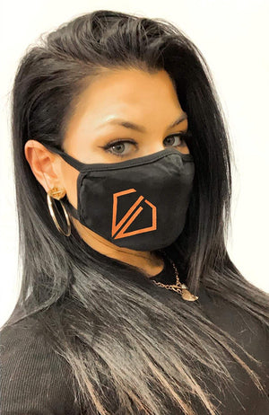 Uncut Diamond Face Mask - Rose Copper