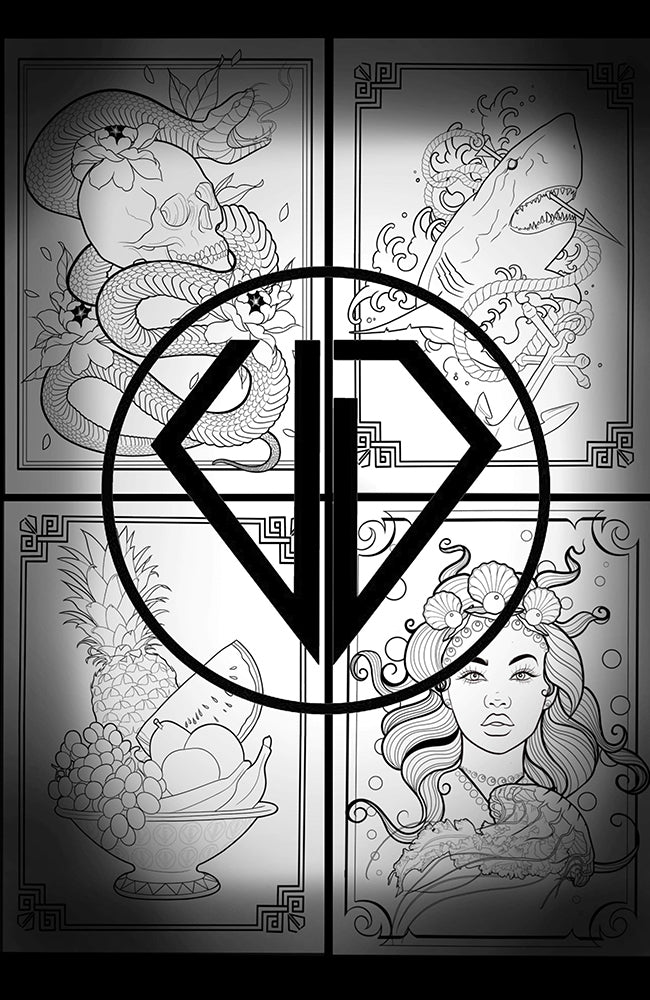 Uncut Diamond Colouring Book - By Cristen Brunner