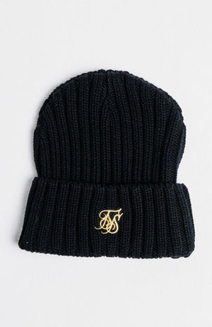 Siksilk Rib Cuff Beanie - Black & Gold