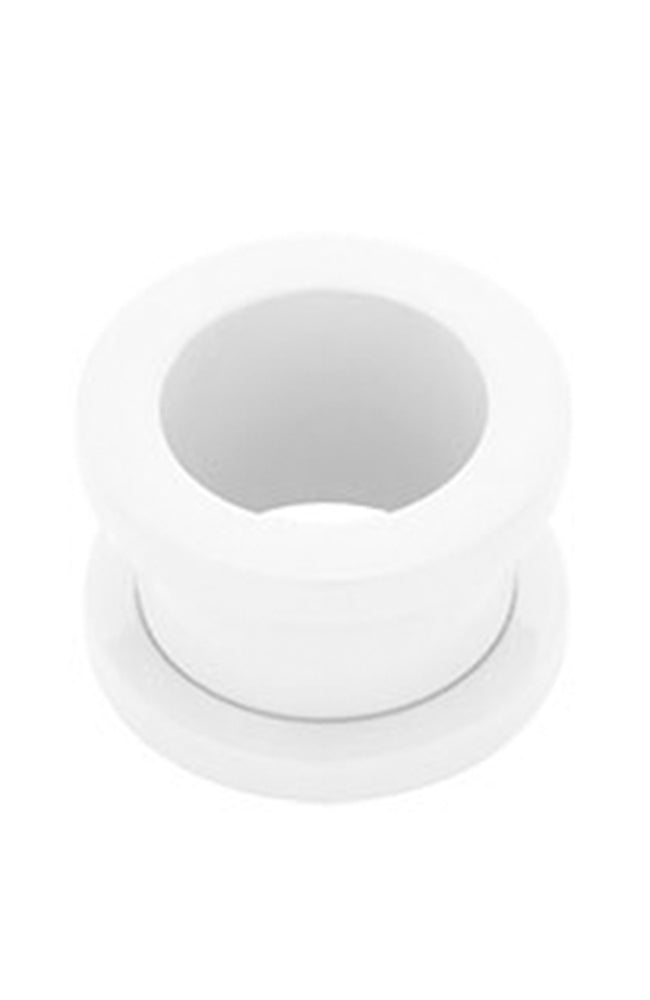 Supernova Pure White Steel Flesh Tunnel 5mm / 14mm / 16mm / 18mm