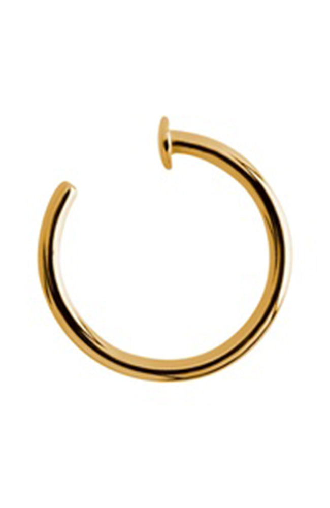 Bright Gold Open Nose Ring - 18 gauge