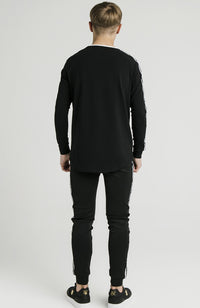 Illusive London Taped Long Sleeve Tee - Black
