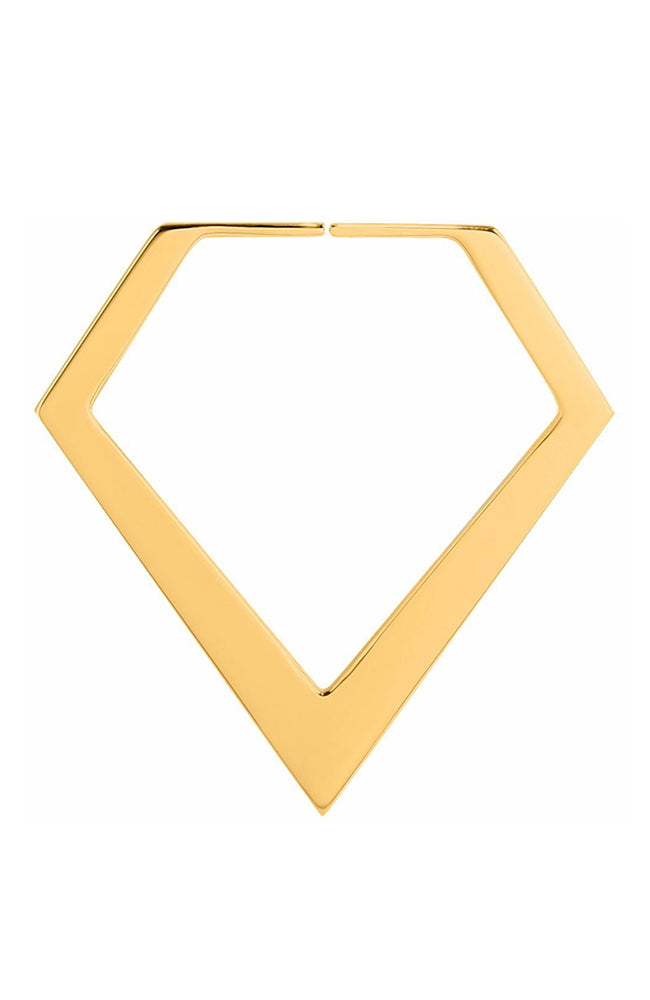 Bright Gold Annealed Diamond Plug Hoop : 1.0mm (18ga)