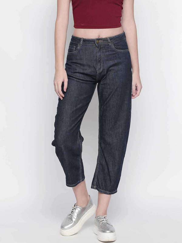 Loose Fit Dark Blue Denim - FREAKINS
