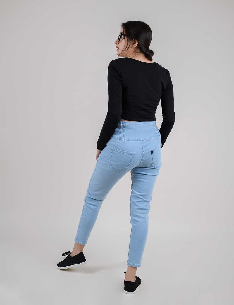 LIGHT BLUE SKINNY BROADBELT JEANS