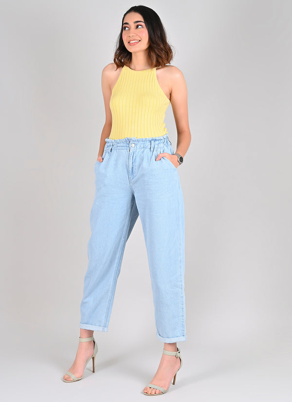DARTED SLOUCHY JEANS