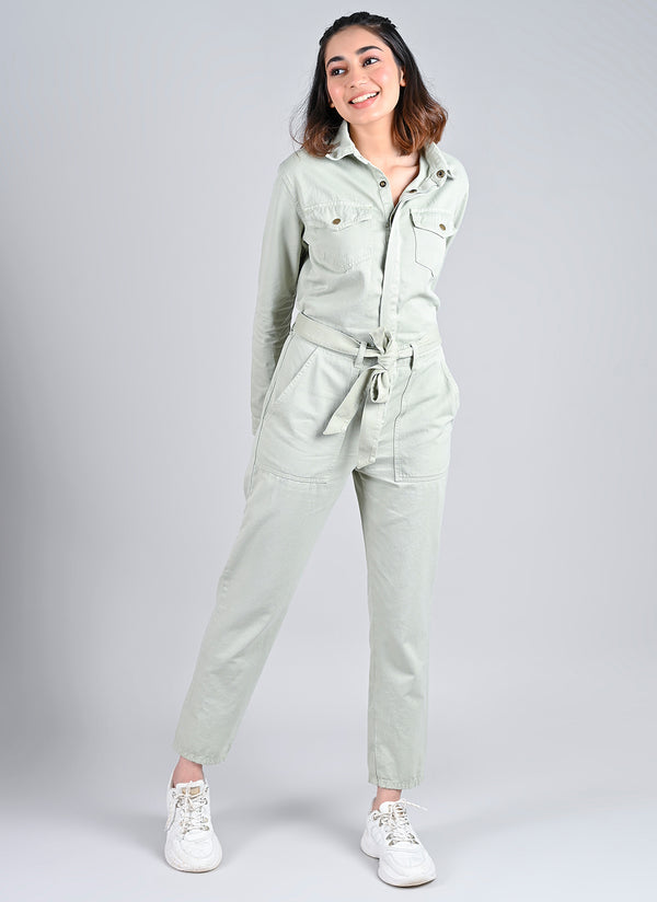 MINT UTILITY JUMPSUIT
