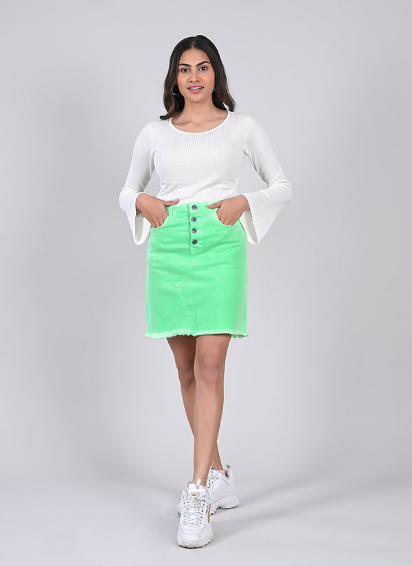 NEON GREEN PENCIL SKIRT