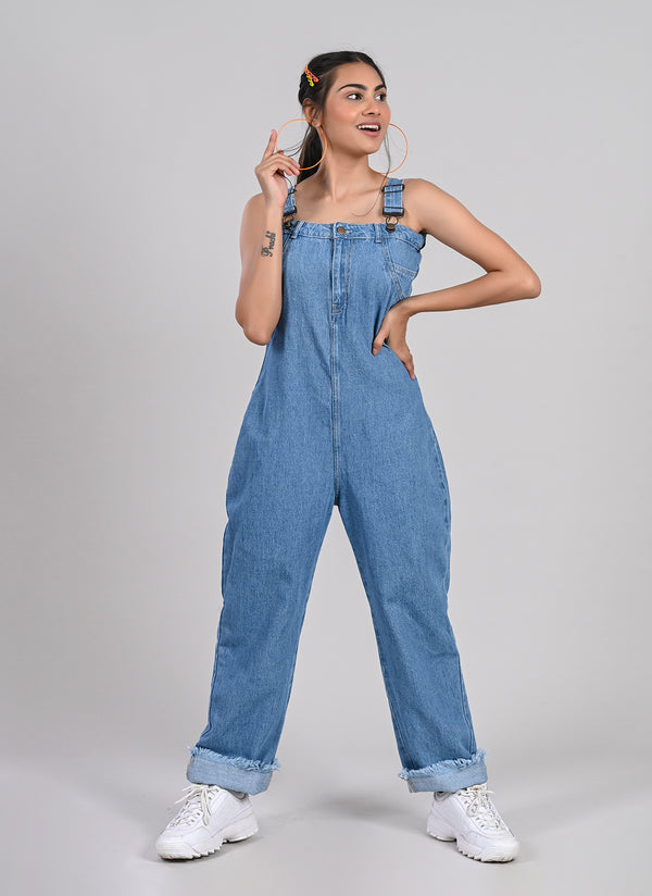 STRAP DENIM DUNGAREE