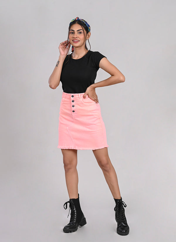 POWDER PINK PENCIL SKIRT