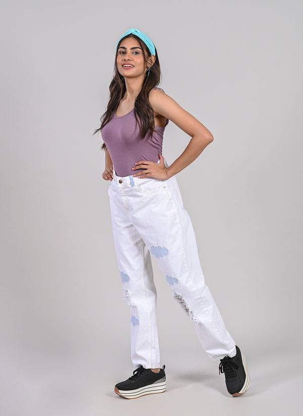 WHITE CLOUD JEANS