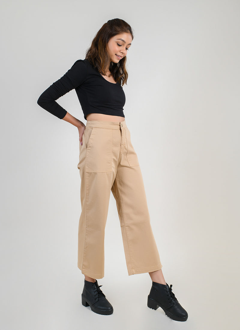 PARALLEL PANTS IN SAND WITH CARPENTER POCKETS