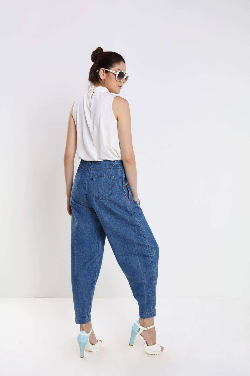 Mid Blue denim loose fit jeans