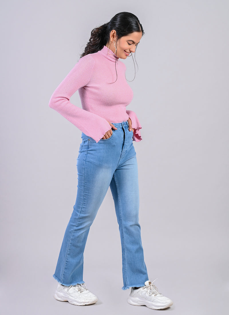 SERENITY BLUE SLIGHT BOOTCUT JEANS