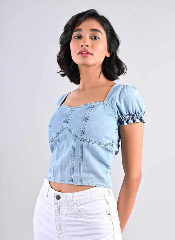 DENIM CORSET TOP