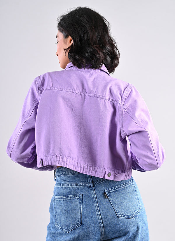 LILAC CROPPED JACKET
