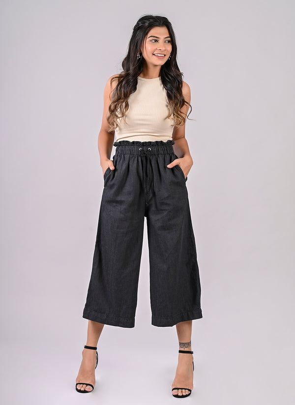 GREY PAPERBAG CULOTTES