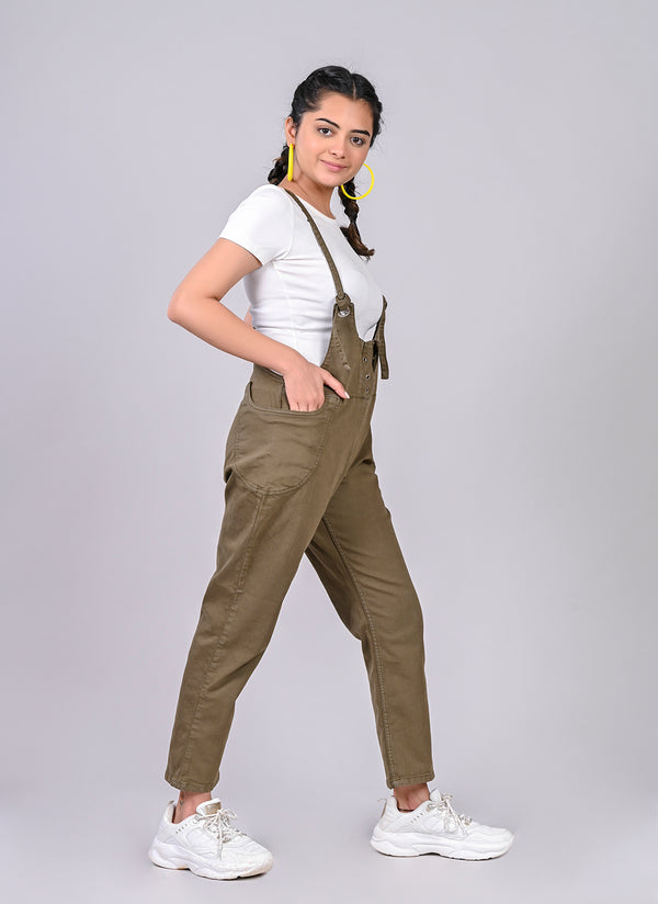 Olive Slim fit Dungaree
