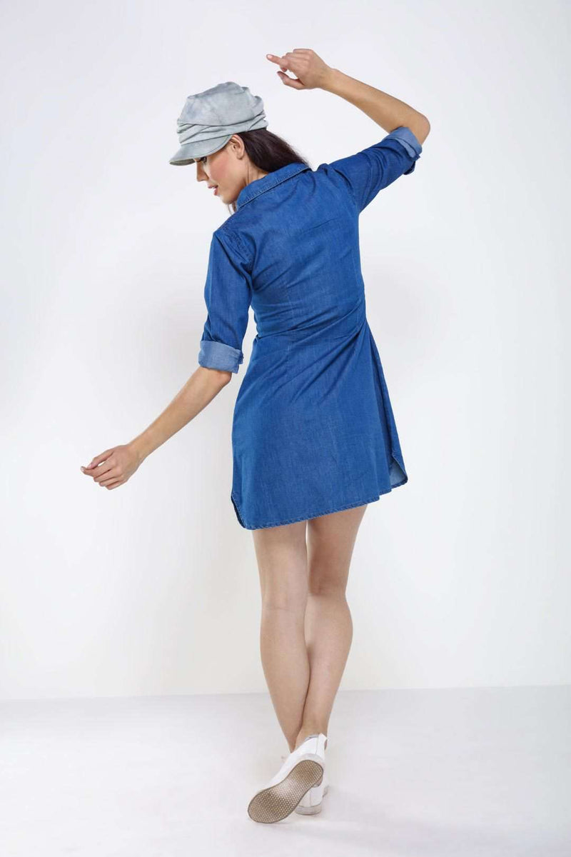 Mid Blue Denim dress - FREAKINS