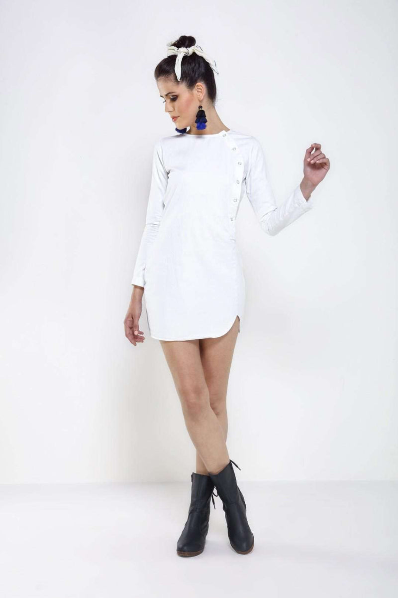 White Denim dress