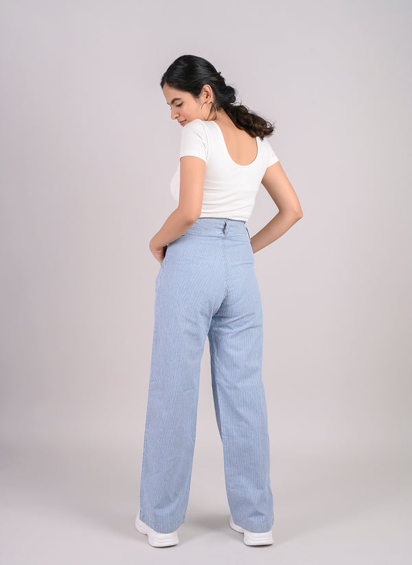 PARALLEL STRIPE PANTS WITH BELT