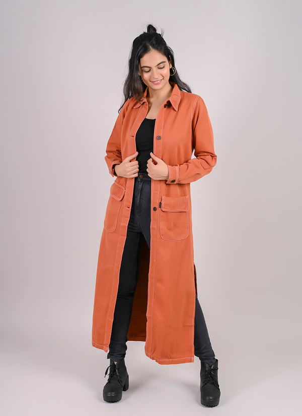 RUST DENIM OVER COAT