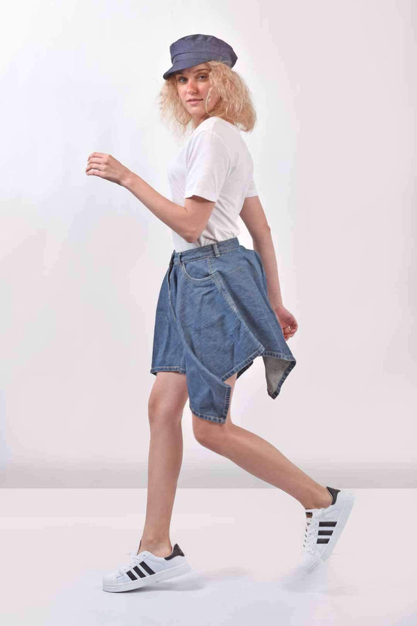 Flared denim skirt - FREAKINS